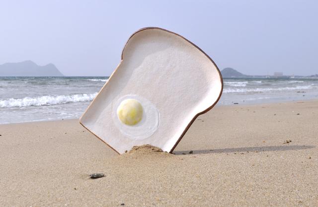 食パンの皿*大盛りブランチ【Fried-Egg】