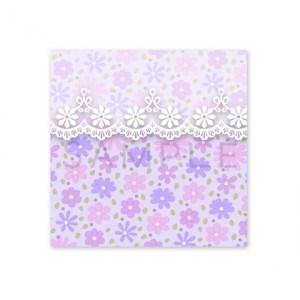 (四角SH59)〈ショップシール四角〉☆かわいい花模様《ラベンダー系02》