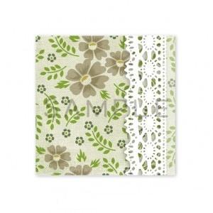 (四角SH73)〈ショップシール四角〉☆お花と野草《グリーン系03》