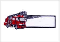 お名前ワッペン 2枚セット組 ☆消防車☆