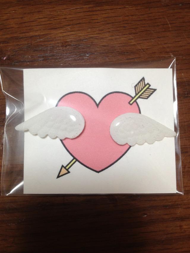 【送料無料】天使の羽ピアス*ホワイト