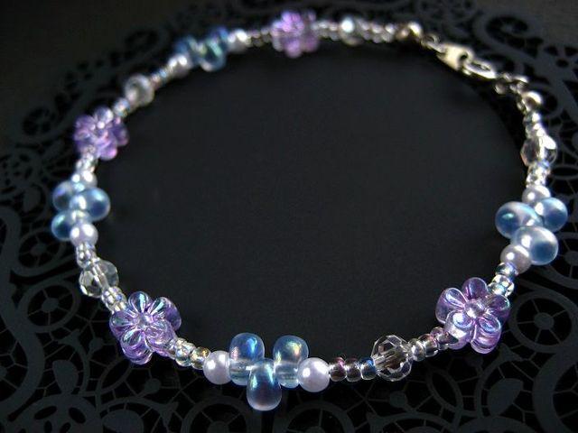 梅雨紫陽花のブレスレット_493