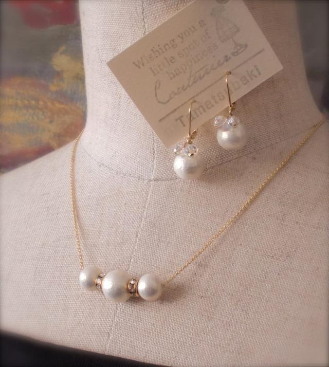 Cotton Pearl × Kirari * ネックレス