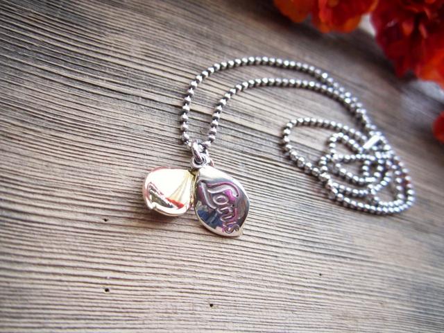 Petal Charm Pendant. ~L.Custom Initial~