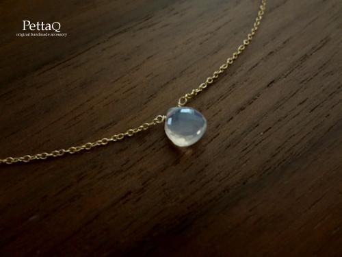 R様オーダー【K14GF】宝石質スコロライトのネックレス