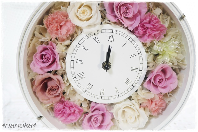 【NEW】 ローズピンク系花時計