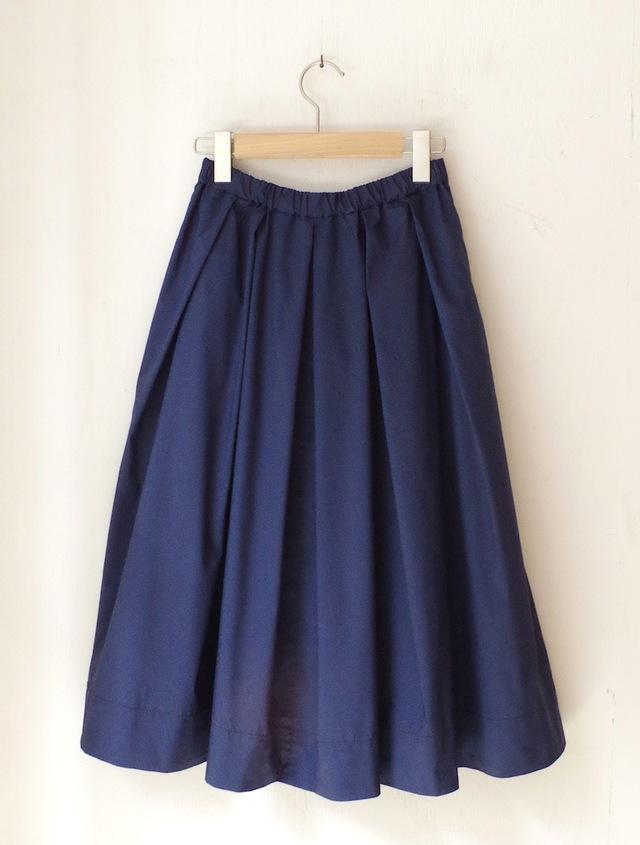 タックフレアースカート (blue)