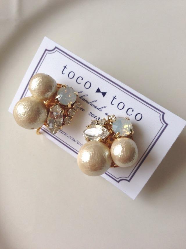 **再販**bijou & twin cotton pearl earring
