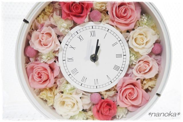 【NEW】 パステルピンク系花時計