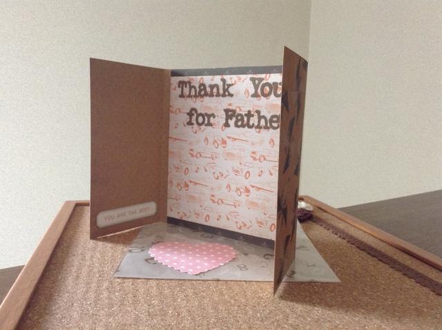 お誕生日に、父の日に、手作りカード(かざぐるま)
