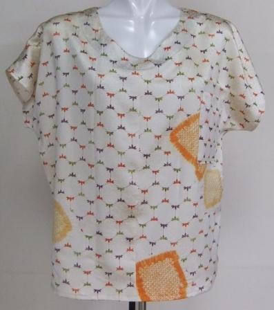 着物リメイク 訪問着で作ったTシャツ 1407