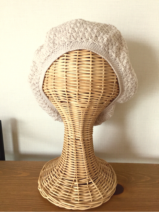 ベレー帽《笹編み》