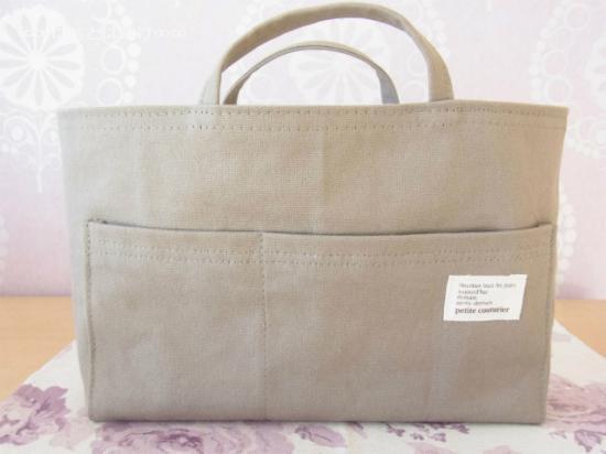 帆布のバッグインバッグ|カーキ