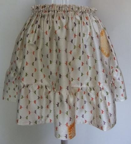 着物リメイク 訪問着で作ったミニスカート 1412
