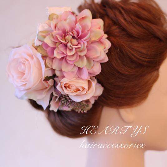 *お花たっぷりヘッドドレス♪【送料無料】