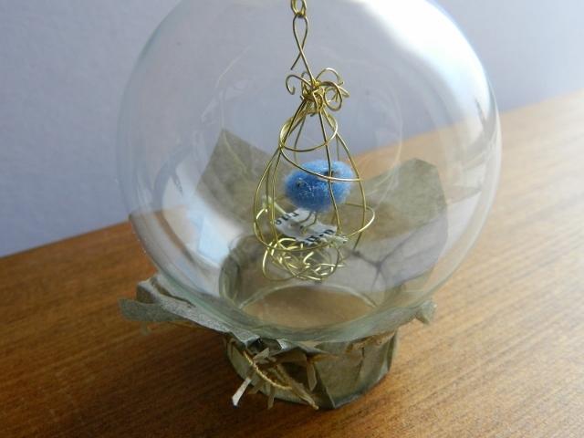 しあわせの青い鳥ガラスドーム  -G