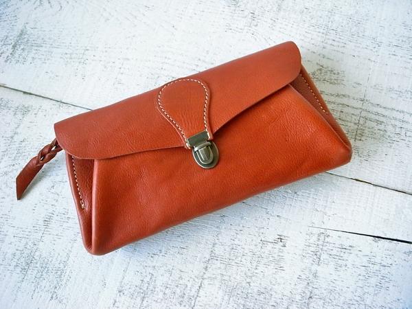 【即納品可能】長財布 「series-envelope」テラコッタ