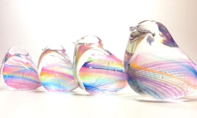 虹色の小鳥 *購入前に在庫、納期の確認をお願いいたします