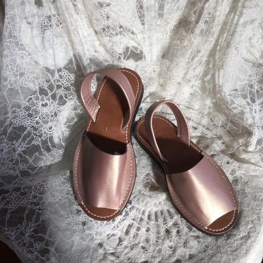 靴擦れしない長く歩ける本革オーダーメイドサンダル★☆ヌーディーピンク