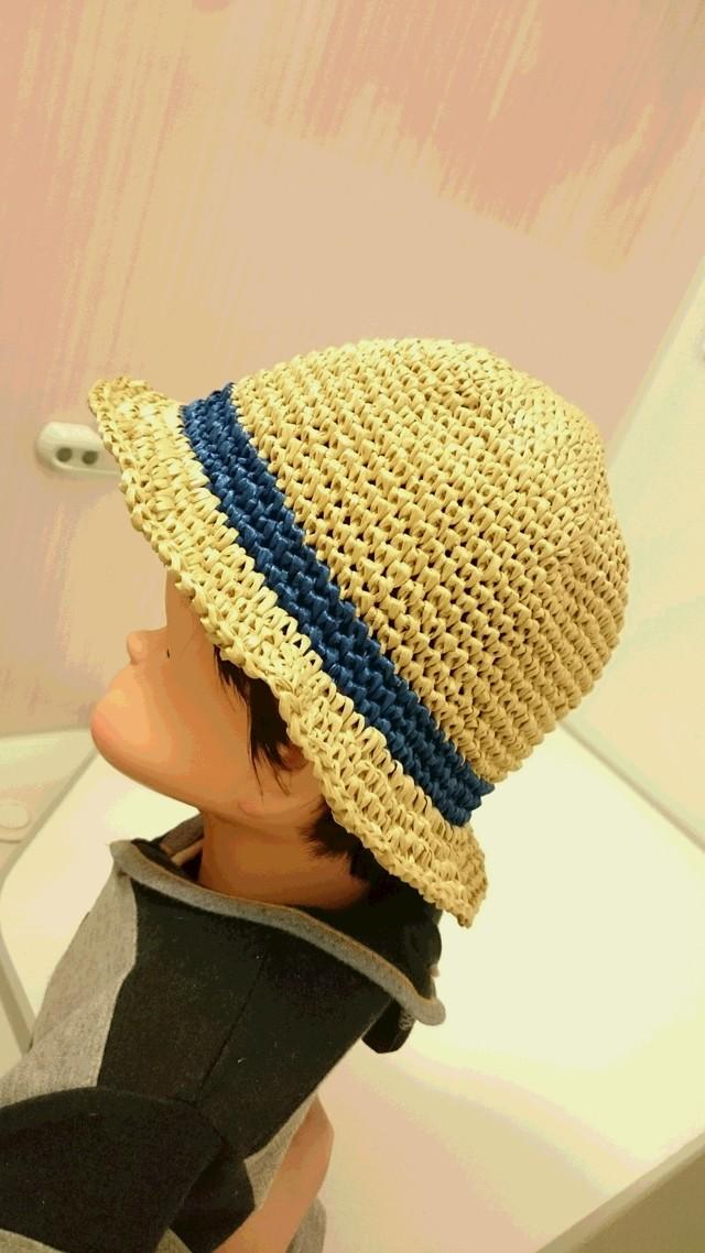 夏のおでかけに♪ UV80%カット〈夏季限定〉キッズ用レーヨン100%帽子50~54センチ