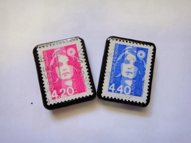 フランス  切手ピアス1099