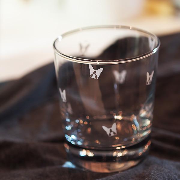 ボストンテリアのミニ柄☆グラス