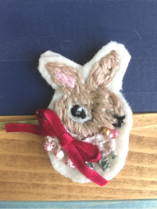 ウサギさんヘアピン