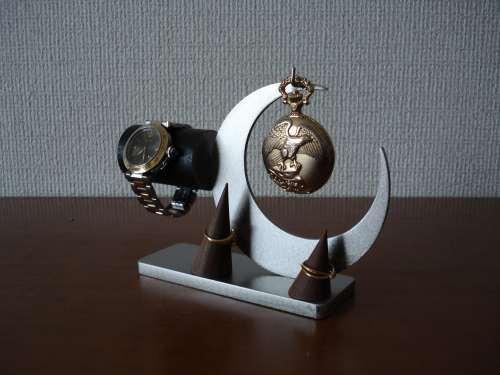 懐中時計、ダブルリングス腕時計、タンド付きアクセサリー収納スタンド