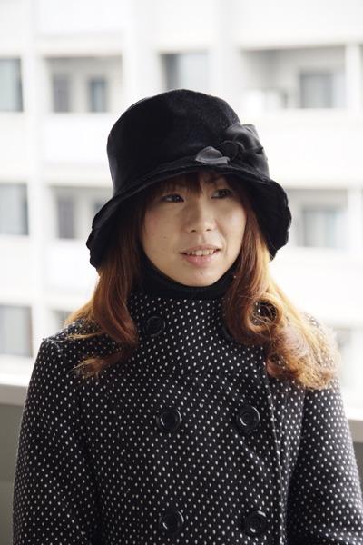 女優風クロッシェ♪シンプルなフォルム...