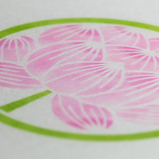 和紙ランプ「蓮の花」手描きLEDあんどん
