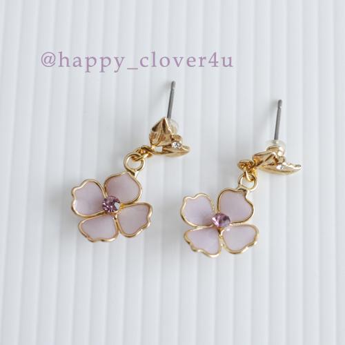 紫陽花(あじさい)とリーフのピアス/p579