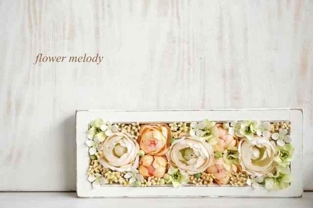 カップ咲きローズのボックスアレンジ (置き型、壁掛け型 両用)