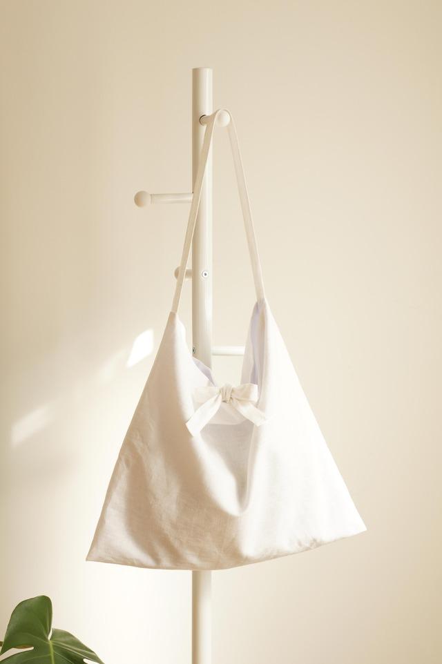 リネンリボンのショルダーバッグ(ホワイト)