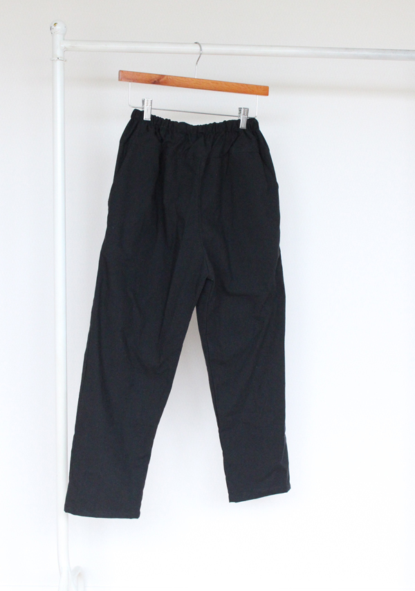 cotton easy pants  ー black size F ー