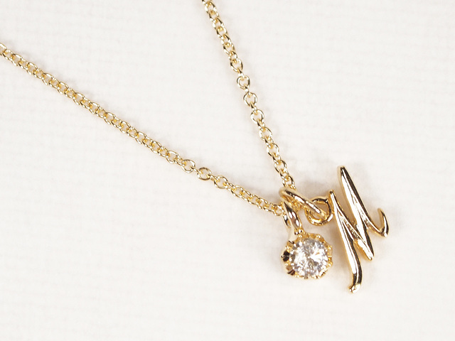 14KGF Initial 2way Necklace