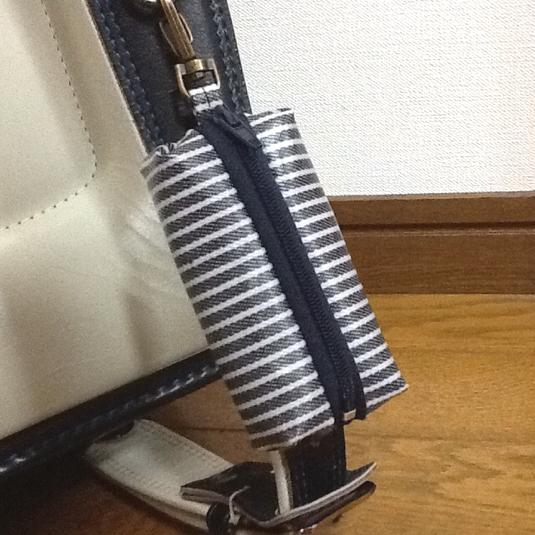 ランドセル用キーケース☆ヒッコリーデニム柄