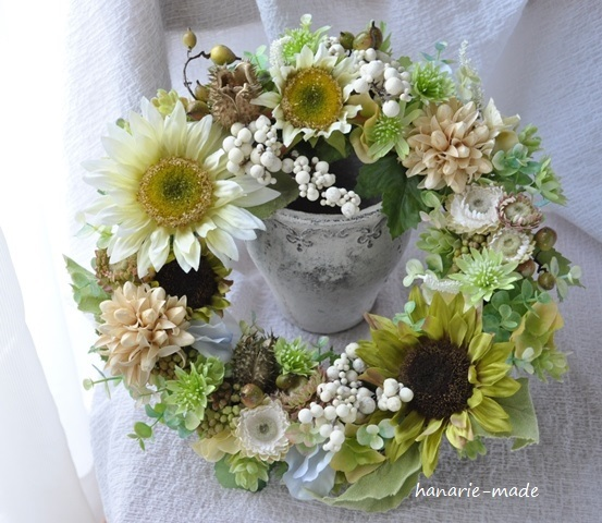 ひまわり natural color:wreath(30cm)