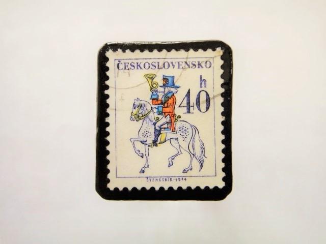 チェコスロバキア 馬切手ブローチ1102