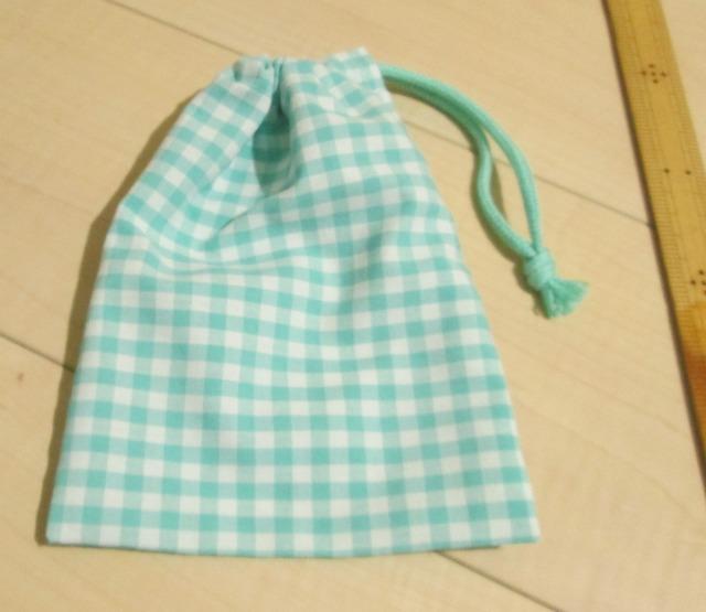 小さい片引き巾着14.5×20【グリーン5?...