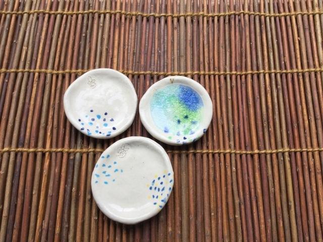 ドットガラス豆皿
