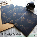 Gold ink Wolf Design Envelope