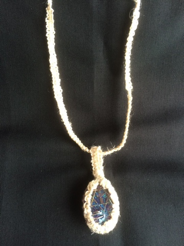 六芒星オルゴナイト付き国産ヘンプのペンダント