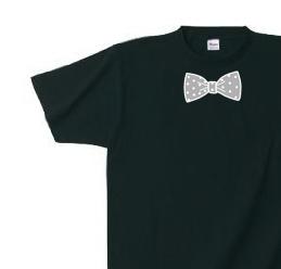 Y様専用オーダーページ だまし絵 水玉 蝶ネクタイ(リボン) S〜XL  Tシャツ 【受注生産品】