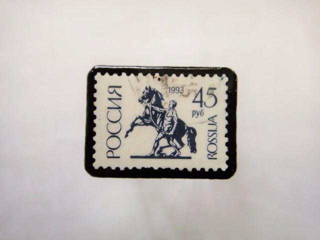 ロシア 馬切手ブローチ1105