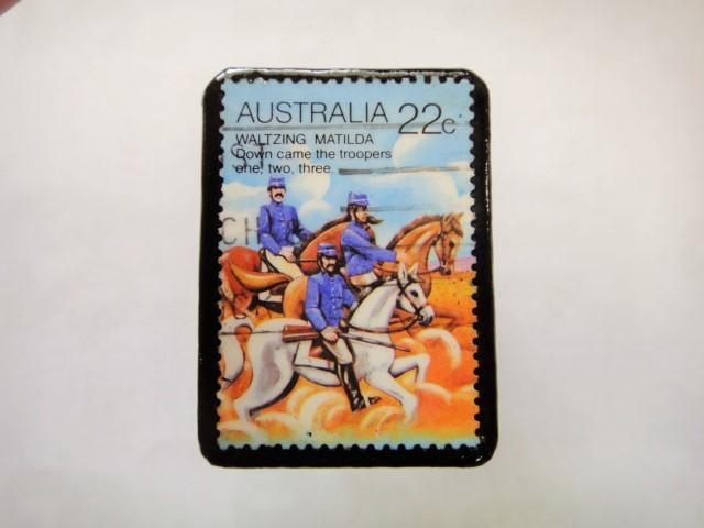 オーストリア 馬切手ブローチ1109