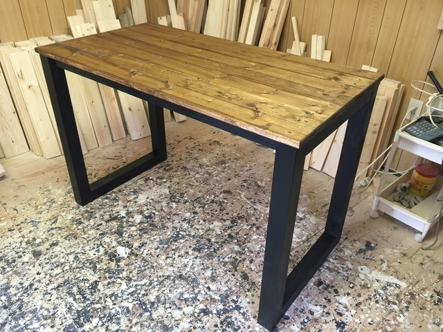 hotaru 男前家具 テーブル パソコンデスク 机 勉強机 オーダー可 天然木 無垢材