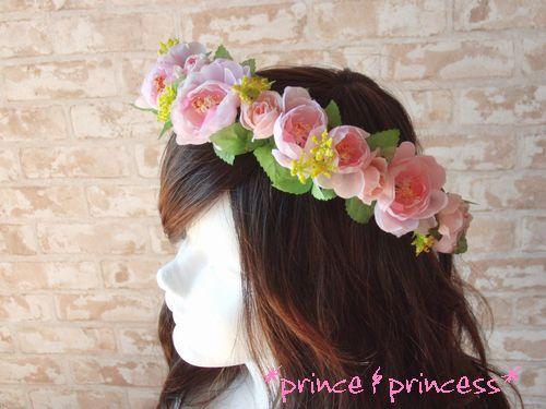 春色カラーのピンクラナン*花冠*
