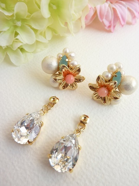 spring flower ピアス 【受注制作】