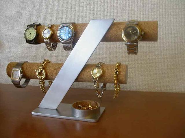 8本掛けインテリア腕時計収納スタンド 丸トレイ