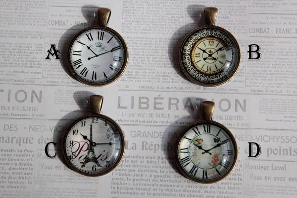 再☆選べる♪時計のペンダント(送料無料 )